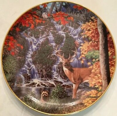 Stag Falls WILDERNESS REFLECTIONS Deer John Van Straalen Danbury Mint Plate