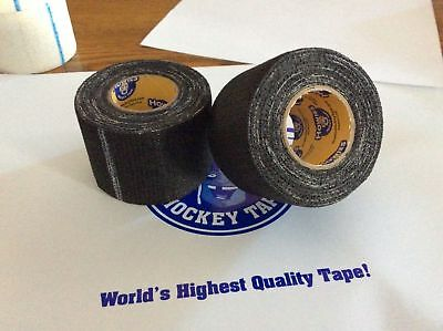 "2 Rolls of Black Hockey Gauze Grip Tape Pro Quality 1.5"" x 30' feet howies stock"
