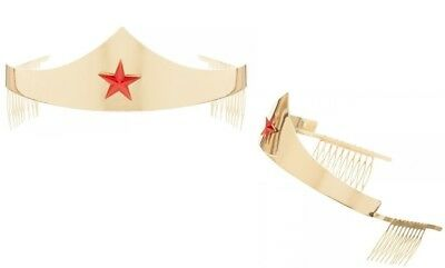 DC Comics Wonder Woman Golden Tiara with Red Gem Star Costume Accessory Crown