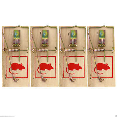6x Traditional Wooden Mouse Traps Classic Mice Rat Pet Rodent Control Catch Trap
