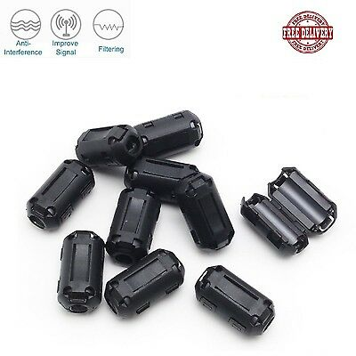 Clip on Ferrite Core Ring Bead High frequency Filter RFI EMI Cable Clip 3mm