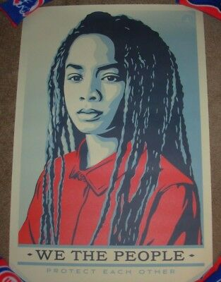 SHEPARD FAIREY poster 24X36 WE THE PEOPLE PROTECT EACH OTHER obey art print