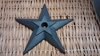 "1 Cast Iron Double Puffed Candle Star size 5 3/4"" with a 7/8"" hole #0S-S02"