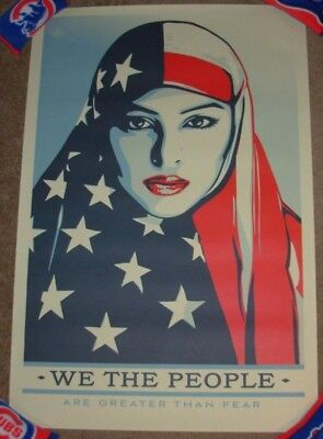 SHEPARD FAIREY poster 24X36 WE THE PEOPLE ARE GREATER THAN FEAR obey art print