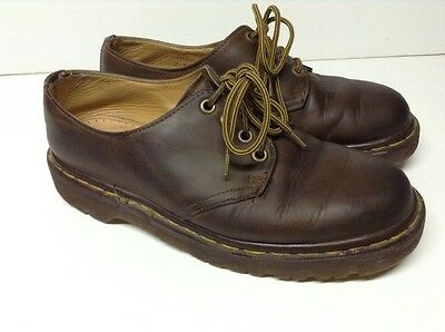 DR Doc Martens Aztec Crazy Horse 4 Eyelet Brown Leather Shoes Sz 6 UK / 7 US