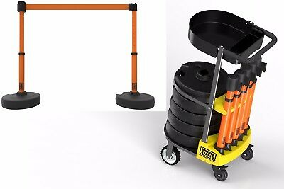 Keep Area Clear- Safety Barriers with Portable Cart