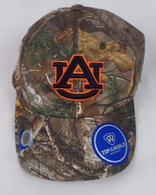 buy popular eeb58 1ba82 New Top Of The World Auburn Tigers Realtree Camo Hat Cap One Sz Strapback