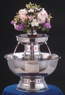 Apex Stainless Steel Lighted Champagne Punch Beverage Fountain Catering 5 Gallon