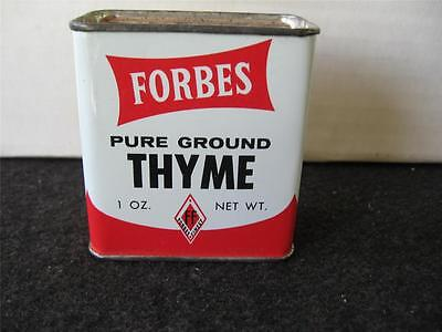 Vintage Tin Forbes Mace Thyme Tin (CANCO) new old stock unopened tin