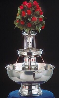 29″ Apex Princess Lighted Steel Beverage Champagne Punch Fountain 7 Gallon