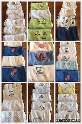 Mothercare Baby 2 Short Sleeve Wrap Vests 9 12 Months Bnwt 1 00