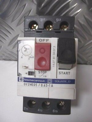 TELEMECANIQUE Schneider GV2-ME05 0.63-1A Thermal-Magnetic motor circuit breaker