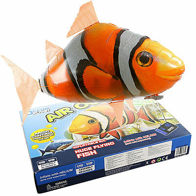 KETNET Remote Control Inflatable Balloon Air Swimmer Flying Nemo Shark Blimp Toy
