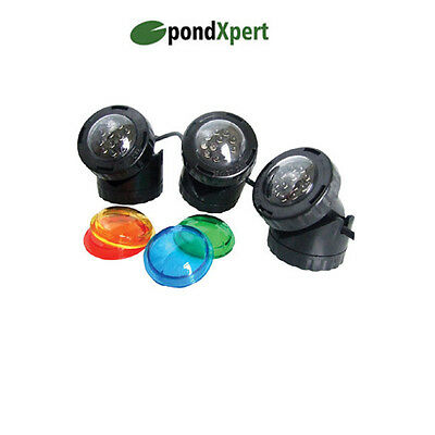 PondXpert Pondolight LED Garden Pond Lighting 3 x 1.6w Submersible Lights