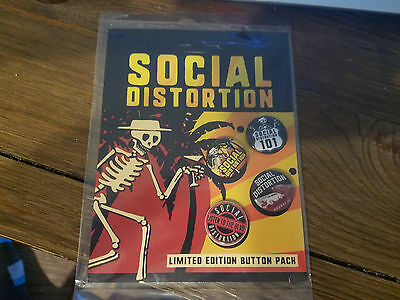 Social Distortion Button Pack, Limited Edition 2017 VIP Tour