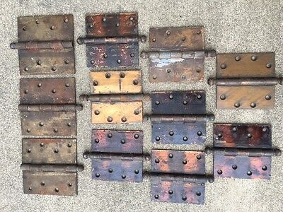 11 Vintage Antique Stanley Sweetheart S.W. Ball Tip Hinges Brass