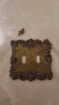American Tack & hardware Wall Plate Cover Rose Brass Double Switch