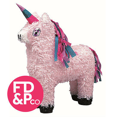 "22"" H x 13.5"" W Pink Unicorn Party Bash Pinata With /Without Optional Stick"