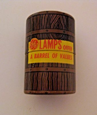 Scarce Vintage Ge Lamps Light Bulbs Advertising Matchbook Match Can Container
