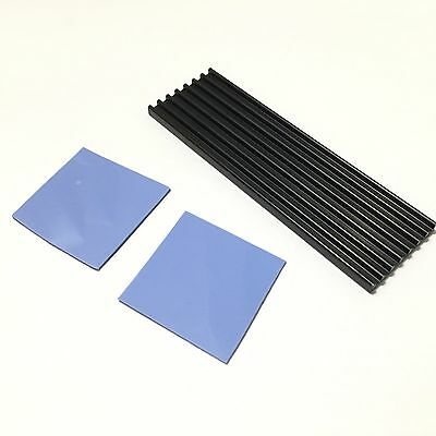 3mm Aluminum Heat Sink Cooling Fin For M.2 NGFF 2280 SM961 960PRO NVMe SSD