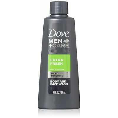 Dove Men + Care Extra Fresh Body and Face Wash 3 Oz ( 6 PACK)