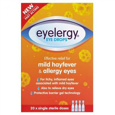 Eyelergy Eye Drops for Allergy and Hayfever Relief - 20 Doses