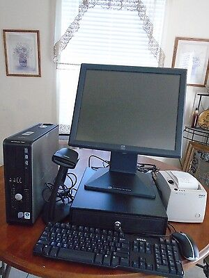 "Complete POS  w/ Quickbooks installed, 17"" LCD , Cash drawer & Receipt printer"