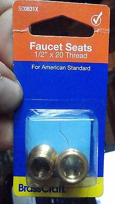 "Faucets Seats for American Standard Faucets 1/2"" x 20 Thread  BrassCraft SC0831x"