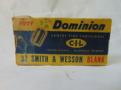 1 Empty Canadian Industries Limited Dominion 32 Smith & Wesson Blank Shell Box