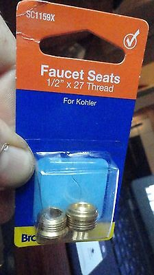 "Faucets Seats for Kohler Faucets 1/2"" x 27 Thread  BrassCraft SC1159x"