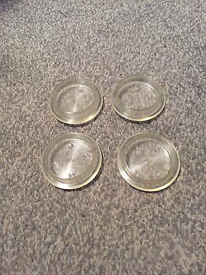 4 Clear Transparent carpet protectors furniture coasters mottled Clear