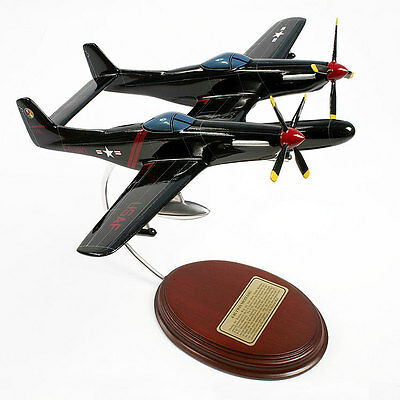 F-82 Twin Mustang - 1/51 Scale Hand-Carved Model - Ready to Display