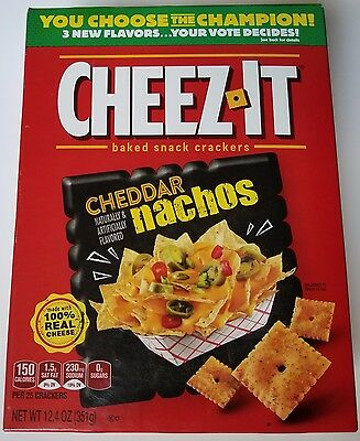 NEW Cheez-It 2017 Cheddar Nachos Baked Snack Cheese Crackers FREE WORLDWIDE SHIP
