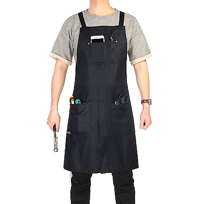 Canvas Waxed Apron With Pockets Adjustable unisex split-leg Water resistant