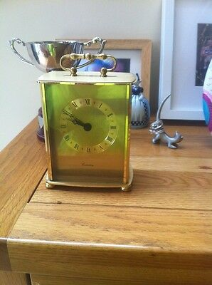Carriage Clock Brass Canterbury West Germany Junghans Quartz Movement