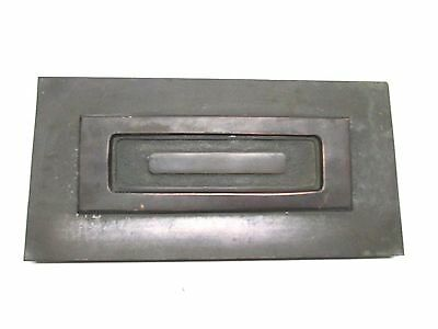 Vintage Solid  Brass Hinged Mail Slot 2 piece Overall 13 1/2 x 6 3/4