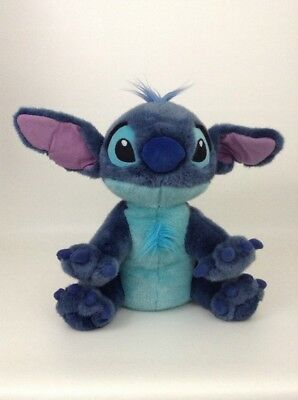 "Disney Store Lilo & Stitch LG 14"" Stitch Dog Blue Alien Plush Stuffed Animal"