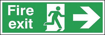 "Signs and Labels AMZFE044AGARP ""Fire Exit Running Man Arrow Right"" Safe Safety x"