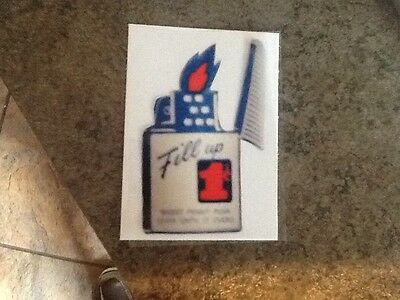 Reproduction Lighter Fluid Machine Decal
