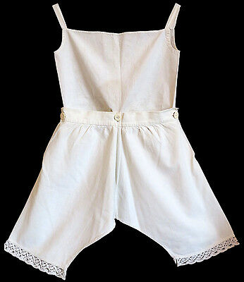 19th Century Child's Two-Piece cotton underwear set