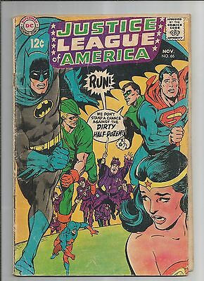 Justice League Of America #66  Gd Ow/white Pages   Silver Age  Dc Comics 1968