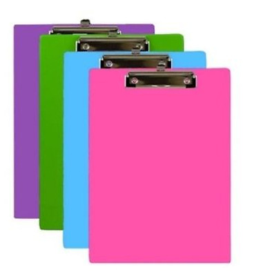 BAZIC Bright Color PVC Standard Clipboard With Low Profile Clip Assorted color