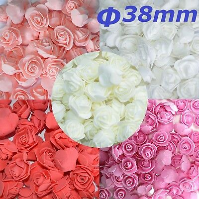 100Pcs Mini Foam Artificial Rose Flower Heads Wedding Party Decor Bouquet Bulk