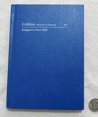2018 Diary Collins Kingsgrove A6 361 Week to View Hardcover Casebound Royal Blue