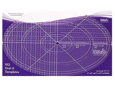 HandiQuilter Oval A Template rulers