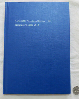 2018 Diary Collins Kingsgrove A5 381 Week to View Hardcover Casebound Royal Blue