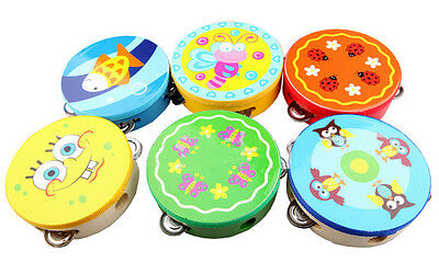 Handbell Clap Drum Tambourine Rattles Toy Musical Instrument For Kids Gifts