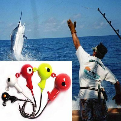 5pcs Sharp Perforated Jigging Bait Carbon Steel Durable Head Lead Head Hook