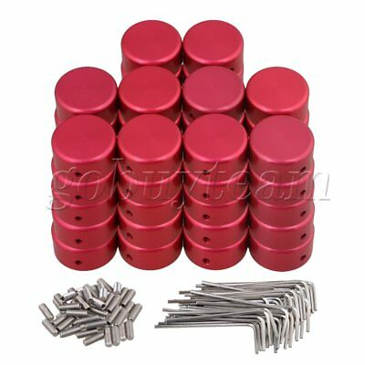50pcs Red Guitar Effects Accessories Stomp Switch Pedal Box Foot Caps
