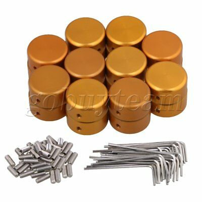 Golden Aluminum Alloy Protection Cap for Guitar Effects Parts Set of 20